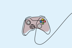 Sketch of an Xbox controlle