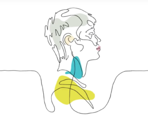 illustrated image of young boy, relating to health and wellbeing