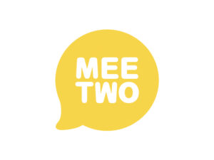 yellow speech bubble with 'meetwo' inside
