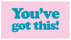 You've got this written in turquoise on a pink background